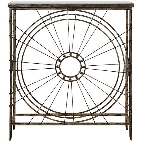 Uttermost Sweeney Burnished Silver Console Table