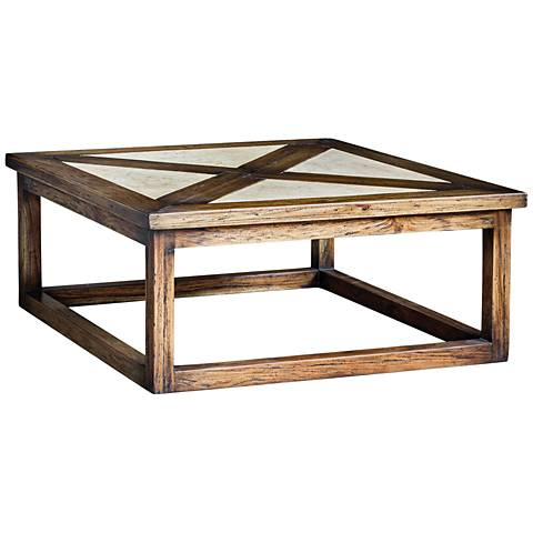Uttermost Akono Natural and Rustic Honey Wood Coffee Table