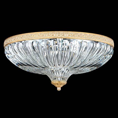 "Schonbek Milano 16""W Parchment Gold Crystal Ceiling Light"