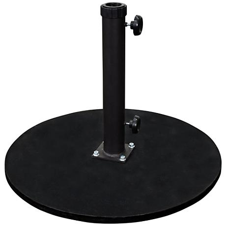 Casper 95 Lb. Black Cast Iron Round Umbrella Base