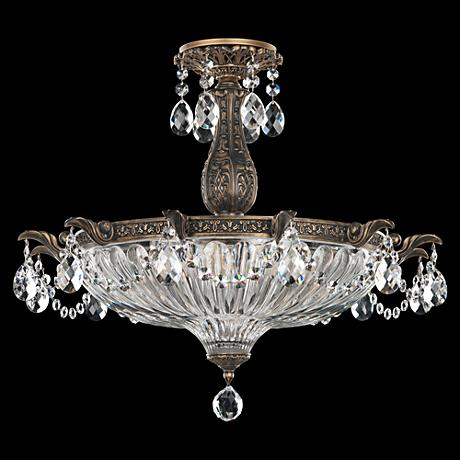 "Schonbek Milano 22 1/2""W Midnight Gild Crystal Ceiling Light"