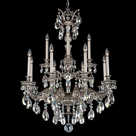 Schonbek Milano 31 Quot Wide Roman Silver Crystal Chandelier