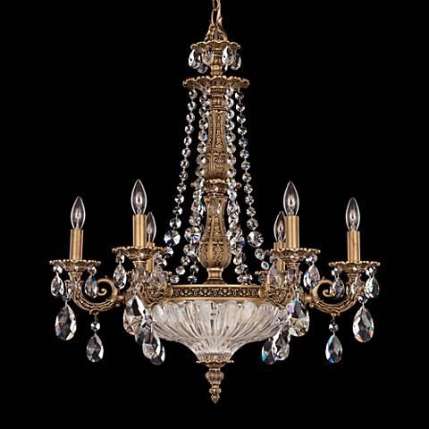 """Schonbek Milano 23""""W Florentine Bronze Crystal Chandelier"""
