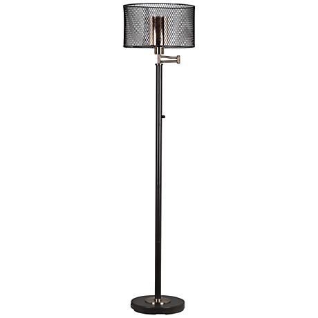 tiffany hardy led oil rubbed bronze floor lamp 14e24 lamps plus. Black Bedroom Furniture Sets. Home Design Ideas