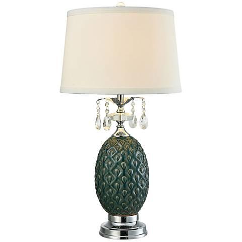 Dale Tiffany Maxie Turtleback Amber Ceramic LED Table Lamp