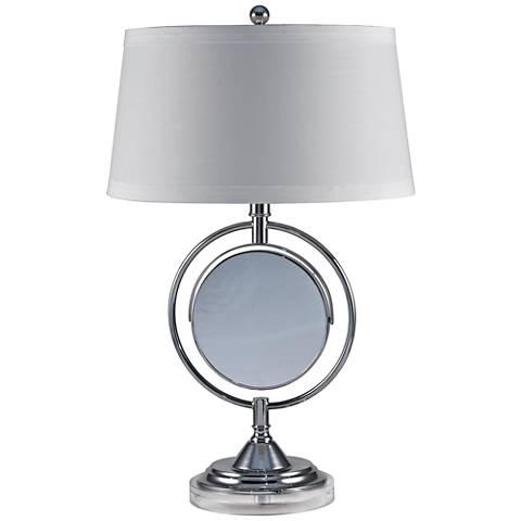Dale Tiffany Contessa Chrome Adjustable Table Lamp