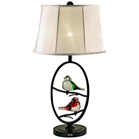 Dale Tiffany Finch Oval Copper-Bronze Metal LED Table Lamp