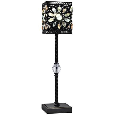 Dale Tiffany Lucy LED Oil Rubbed Bronze Floral Table Lamp