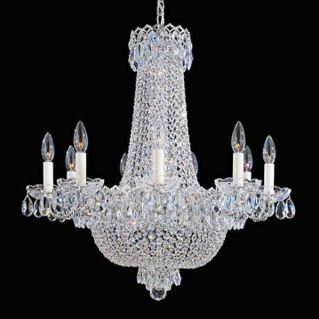 """Schonbek Camelot 24""""W Polished Silver Crystal Chandelier"""