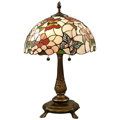 Dale Tiffany Butterfly Chocolate Bronze 2-Light Table Lamp
