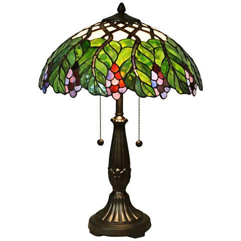 Dale Tiffany Grapevine Multi-Color Art Glass Table Lamp
