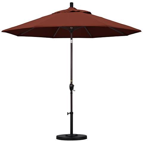 Pacific Trails 9-Foot Henna Round Market Umbrella
