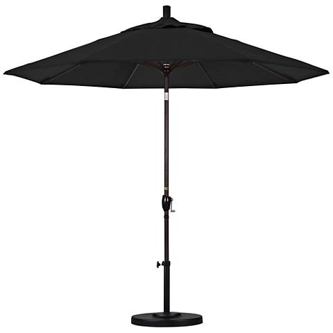 Pacific Trails 9-Foot Black Fabric Round Market Umbrella