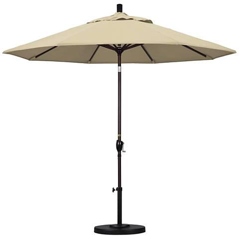 Pacific Trails 9-Foot Antique Beige Round Market Umbrella