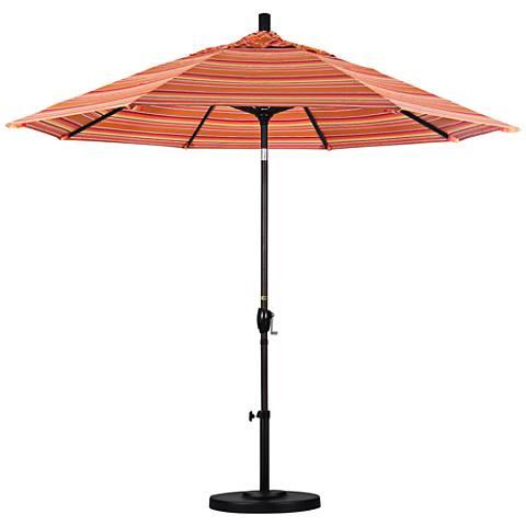 Pacific Trails 9-Foot Dolce Mango Round Market Umbrella