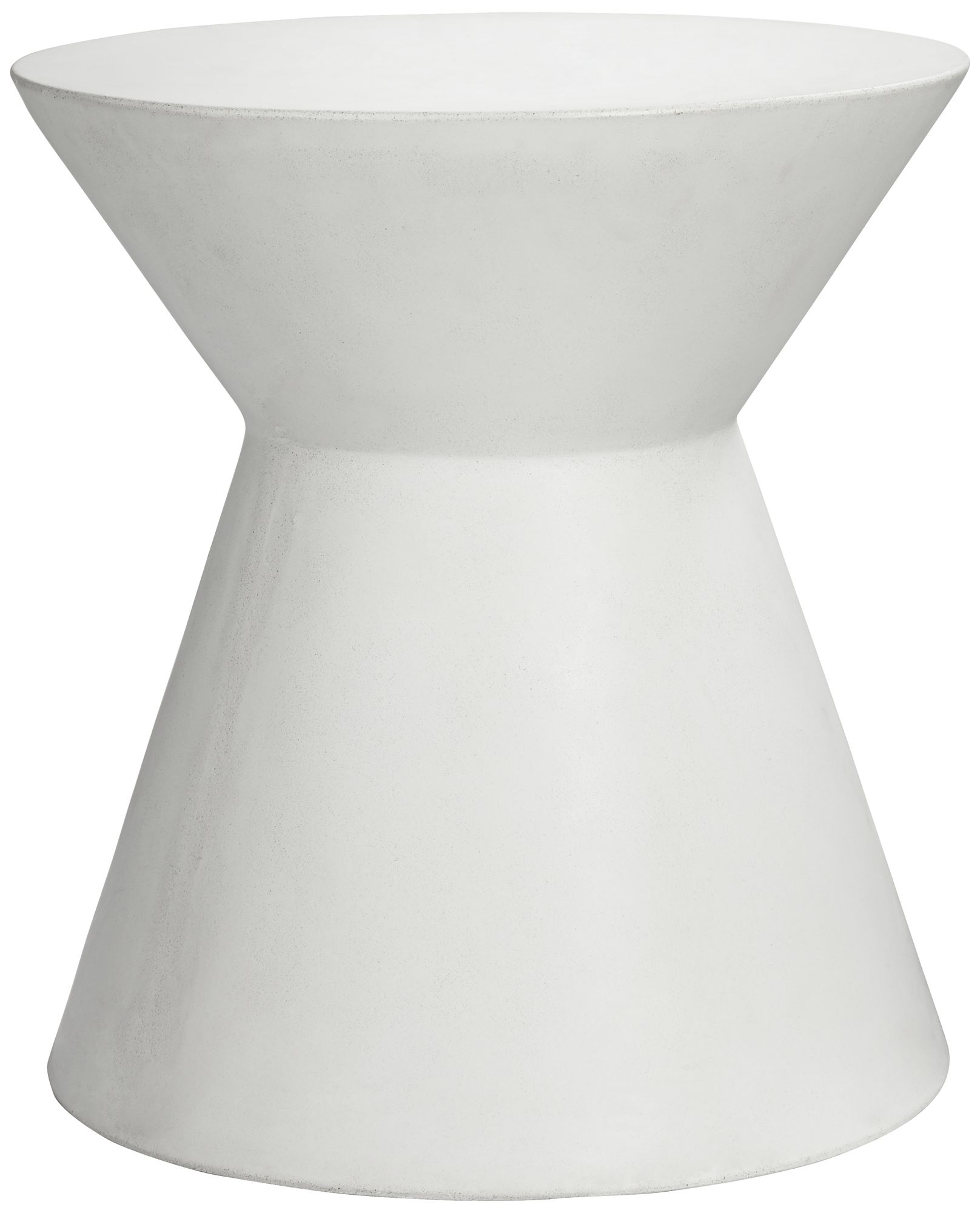 Astley Round White Concrete Indoor Outdoor End Table