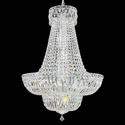 "Schonbek Petit Crystal Deluxe 24"" Wide Silver Chandelier"