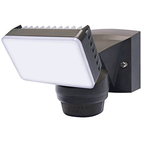 "Advanced 8"" High Bronze 180-Degree LED Security Flood Light"