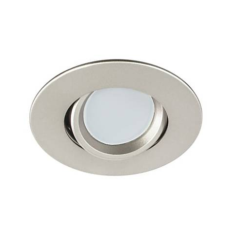 "3"" Nickel Swivel Gimbal 7.5 Watt LED Remodel Recessed Kit"