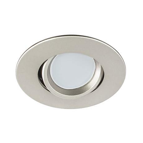 """3"""" Nickel Swivel Gimbal 7.5 Watt LED Remodel Recessed Kit"""