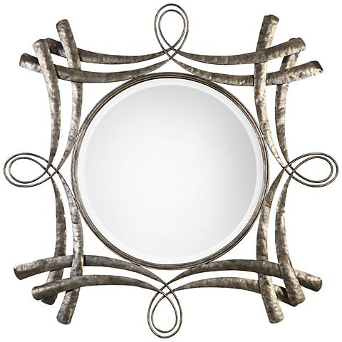 "Uttermost Olivieri Aged Bronze 43 1/2"" Square Wall Mirror"