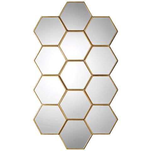 "Uttermost Jarah Antiqued Gold Leaf 36"" x 55 3/4"" Wall Mirror"
