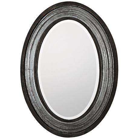 "Uttermost Galina Light Gray Wash 22 3/4"" x 31"" Wall Mirror"