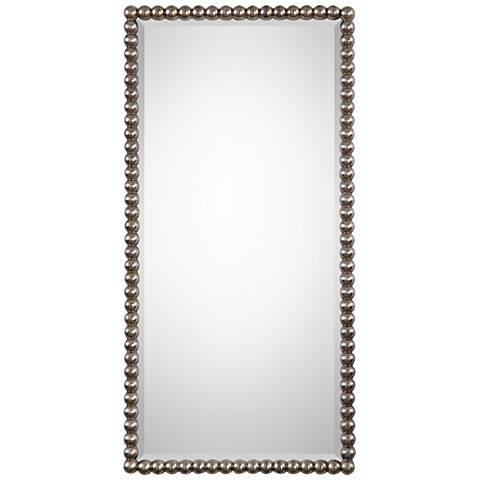 """Uttermost Serna Antiqued Silver Leaf 16"""" x 32"""" Wall Mirror"""