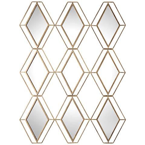 "Uttermost Soren Antiqued Gold 38 1/2"" x 47 1/4"" Wall Mirror"