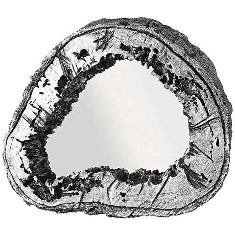 """Woodrum Metallic Silver Leaf 25 3/4"""" x 22 1/4"""" Wall Mirror"""