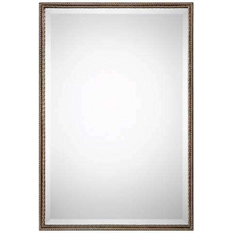 "Uttermost Valero Antiqued Gold 21"" x 30 3/4"" Wall Mirror"