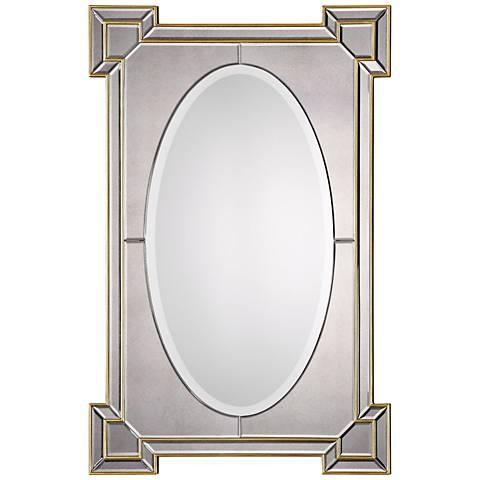 "Uttermost Matilda Antiqued Gold 28"" x 42"" Wall Mirror"