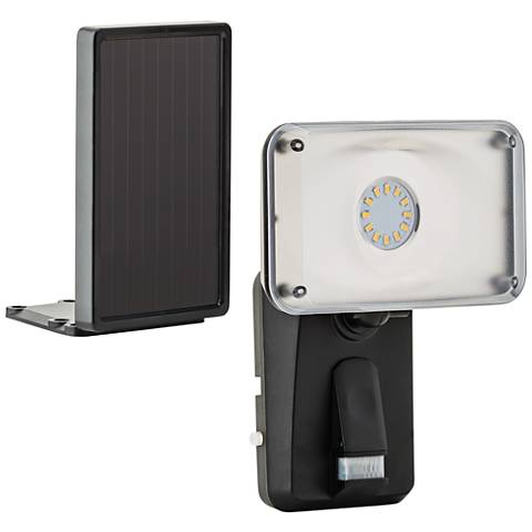 Black Motion Solar Powered LED Security Light