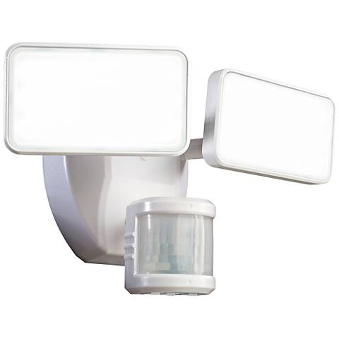 White 1600 Lumen Motion-Activated LED Security Light