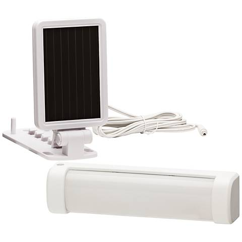 White Solar Powered LED Security Light