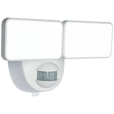 Motion-Activated Battery-Powered LED Security Light in White