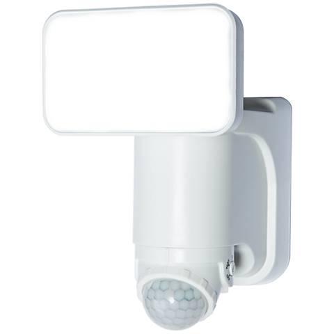 White 300 Lumen Motion-Activated Solar LED Security Light