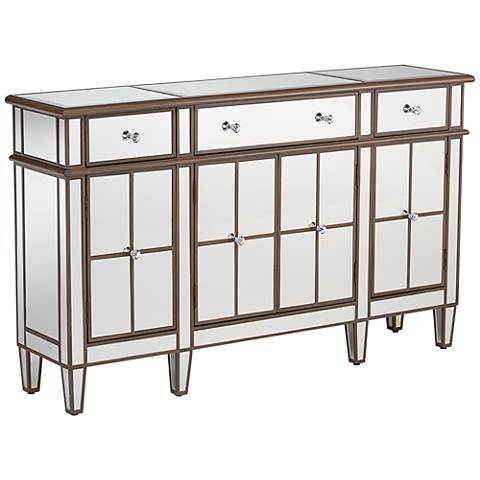 Vicenta 3-Drawer 4-Door Mirrored Contemporary Console Chest