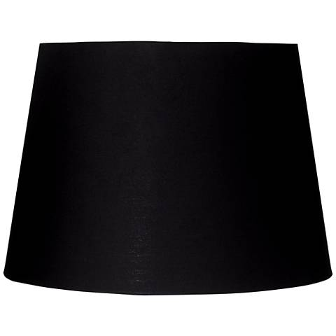 Black and Antique Gold Drum Lamp Shade 11x14x10 (Spider)