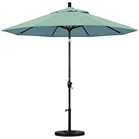 Pacific Trails 9-Foot Spa Fabric Round Market Umbrella