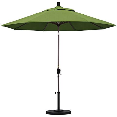Pacific Trails 9-Foot Cilantro Fabric Round Market Umbrella