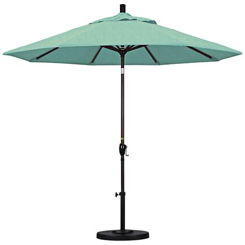 Pacific Trails 9-Foot Spectrum Mist Round Market Umbrella