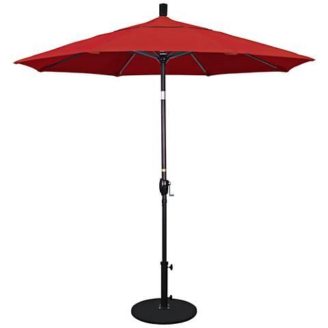 Pacific Trails 7 1/2-Foot Jockey Red Round Market Umbrella