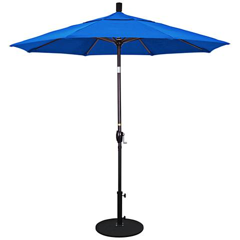 Pacific Trails 7 1/2-Foot Pacific Blue Round Market Umbrella