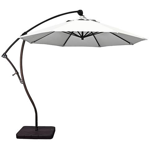 Bayside 9 1/4-Foot Natural Fabric Cantilever Market Umbrella