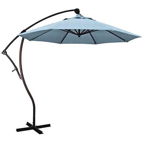 Bayside 9 1/4-Foot Air Blue Cantilever Market Umbrella