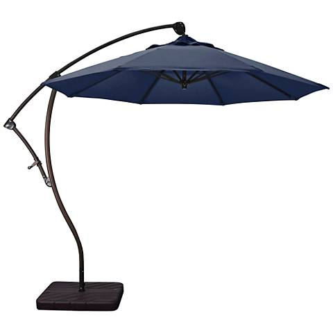 Bayside 9 1/4-Foot Navy Fabric Cantilever Market Umbrella