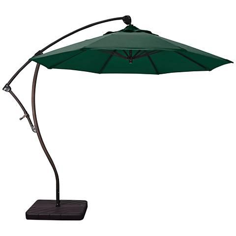 Bayside 9 1/4-Foot Forest Green Cantilever Market Umbrella