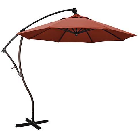Bayside 9 1/4-Foot Terracotta Cantilever Market Umbrella