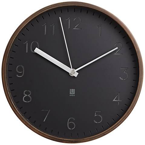 Wall Clocks At Lamps Plus : Rimwood Walnut 10